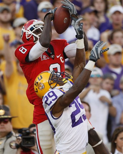 APTOPIX LSU Georgia football