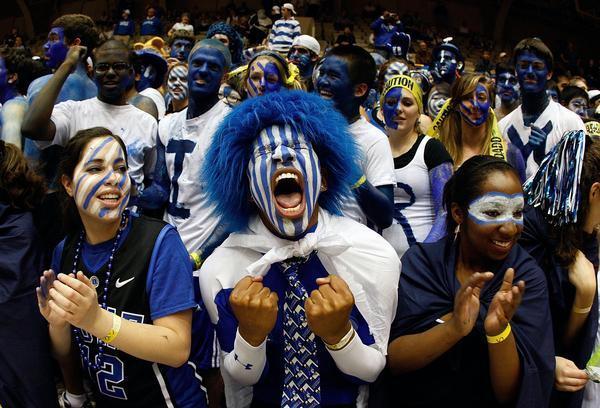 crazy NCAA fans