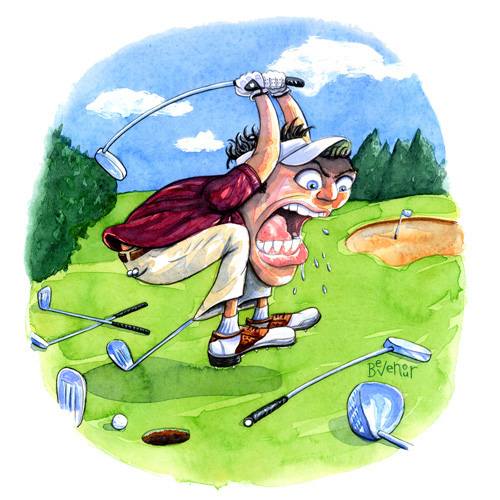 The Angry Golfer Caption Contest Sports Chump
