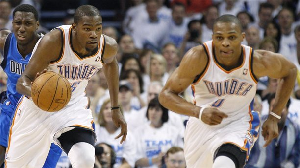 Durant Westbrook1 Random thoughts on the NBA Playoffs so far, looking ahead