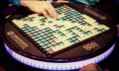 rotating scrabble board