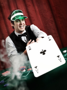 poker dealer ace
