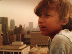 "A much younger SportsChump looks over the New York skyline and thinks to himself ""Perhaps I'll run me a sports website one day."""