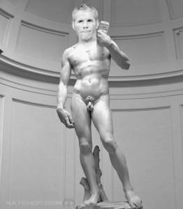 Brett Favre Statue of David