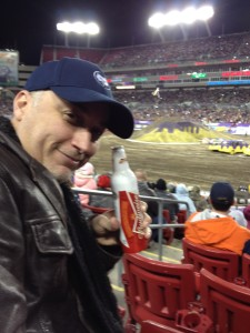 SportsChump drinks at Bud at the Monster Truck Rally
