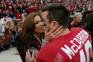 aj mccarron and girlfriend kiss