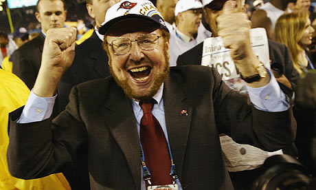 malcolm glazer celebrates super bowl