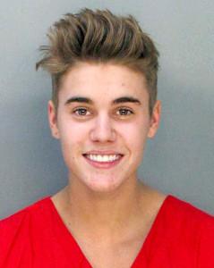 Bieber mugshot
