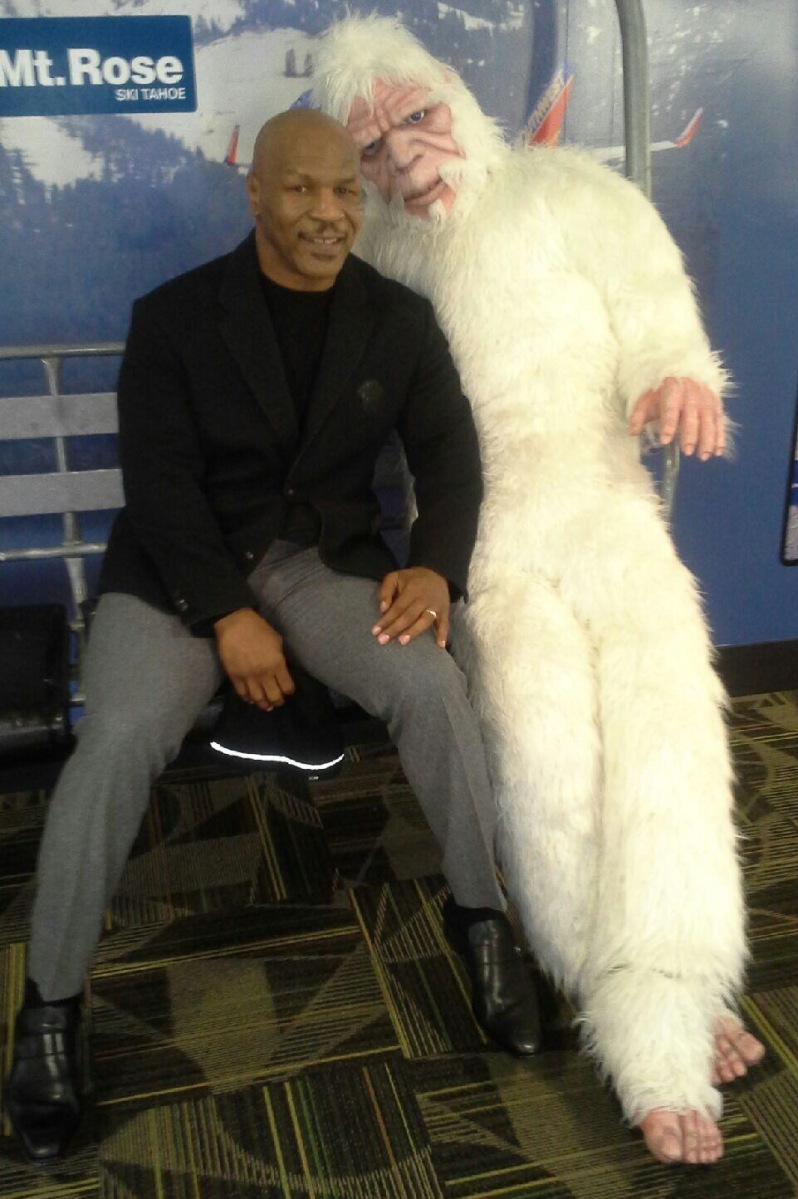 Mike Tyson and a yeti