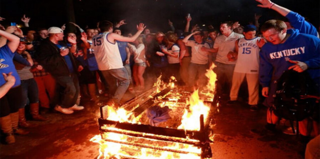 Kentucky couch burning