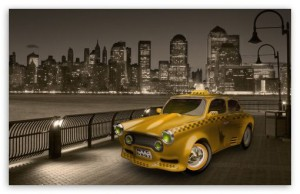 taxi nyc skyline