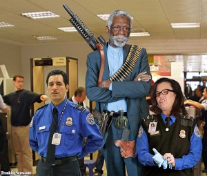 Bill Russell photoshopped guns