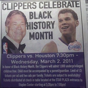 clippers celebrate black history month
