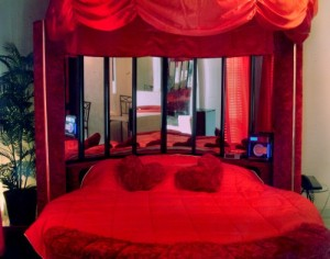 heart shaped bed