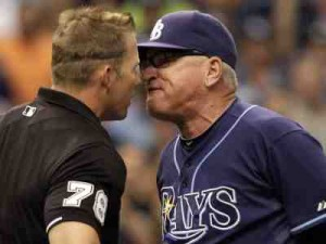 maddon argues umpire