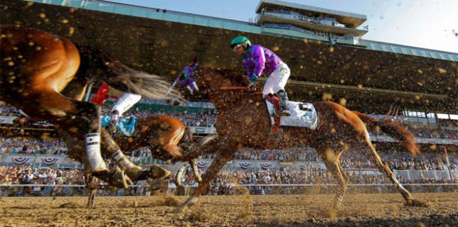 California Chrome 4th at Belmont