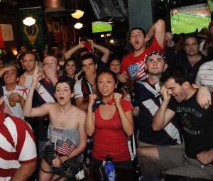 USA fans bar