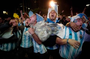Argentinians celebrate
