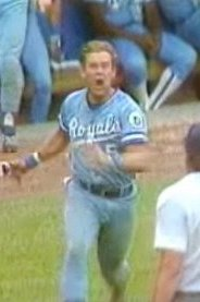 George Brett leaves dugout