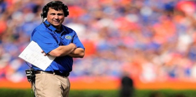 Muschamp on sidelines