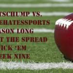 NFL Week Nine Against the Spread Pick 'Em: SportsChump vs. KP vs. Ronbets