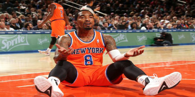JR Smith sits down