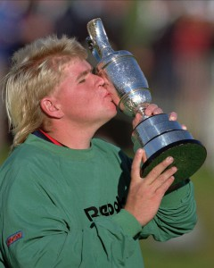 John Daly kisses trophy