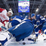 Sights and sounds from Red Wings-Lightning Stanley Cup Playoffs Game One