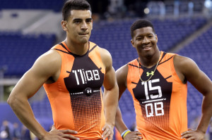 Winston and Mariota at the combine