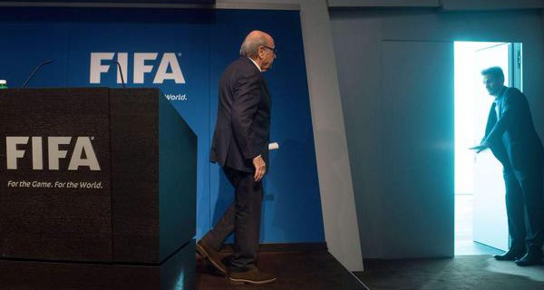 Blatter steps down