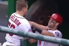 Papelbon chokes Harper