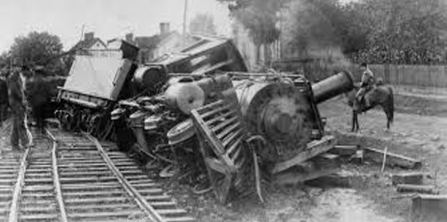 Train derailed