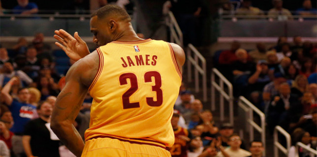 LeBron James shoulders