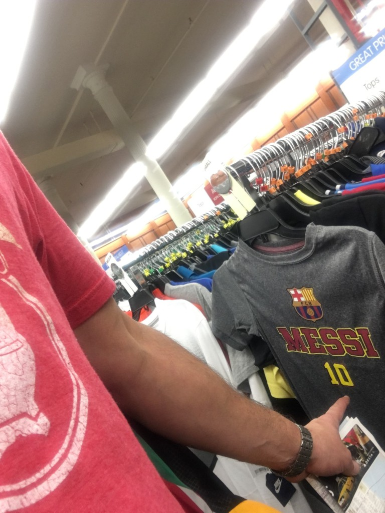 Shopping to find Lionel Messi shirts already on the sales racks.  He had just lost to Chile and announced his retirement from international play one day prior.  #Quitter On a side note, in two days of searching the city, I found not a single Derrick Rose Knicks jersey.  Someone should probably call their marketing department.