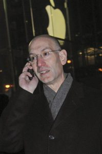 Adam Silver on the phone