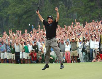 Phil Mickelson jump