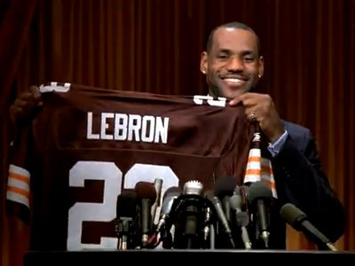 LeBron Browns jersey