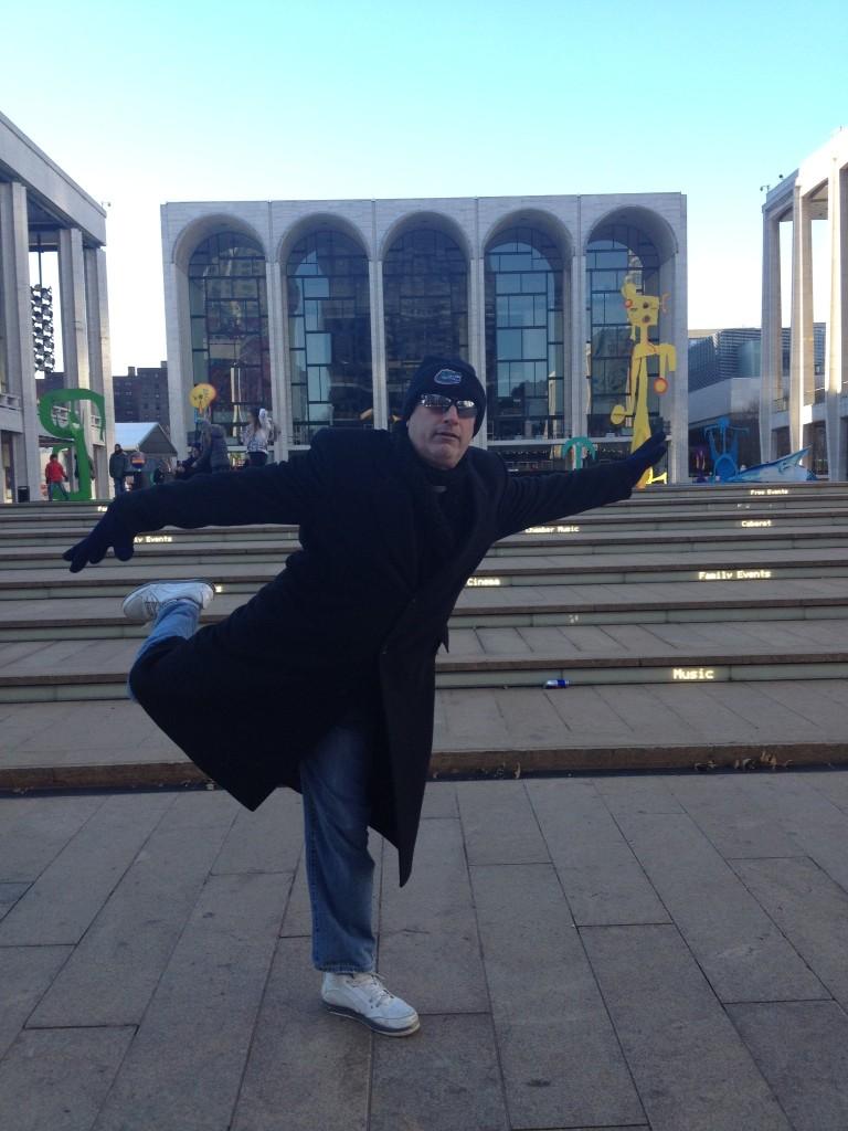 8 - Plie outside Lincoln Center
