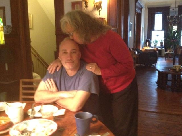 Mom and I breakfast brownstone