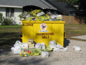 recycled phone books