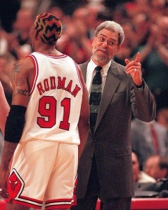 Dennis Rodman Phil Jackson
