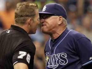 maddon argues umpire