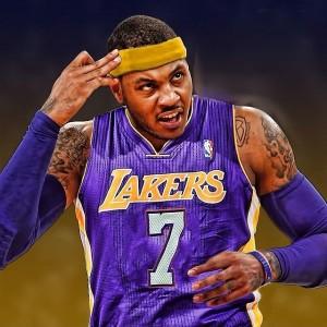 Carmelo Lakers art