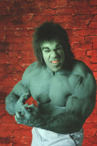 Lou Ferrigno is the Hulk
