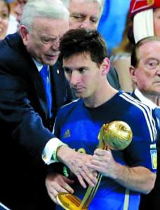 Messi golden ball upset