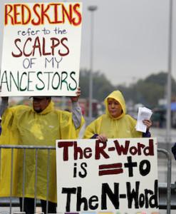 redskins protestors