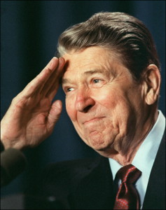 Reagan salutes