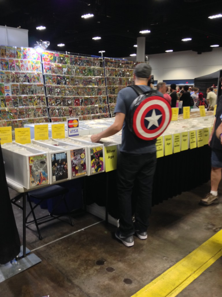 13 - Someone stole Captain America's knapsack.  Seriously, does this guy wear this anywhere else other than Comic Con