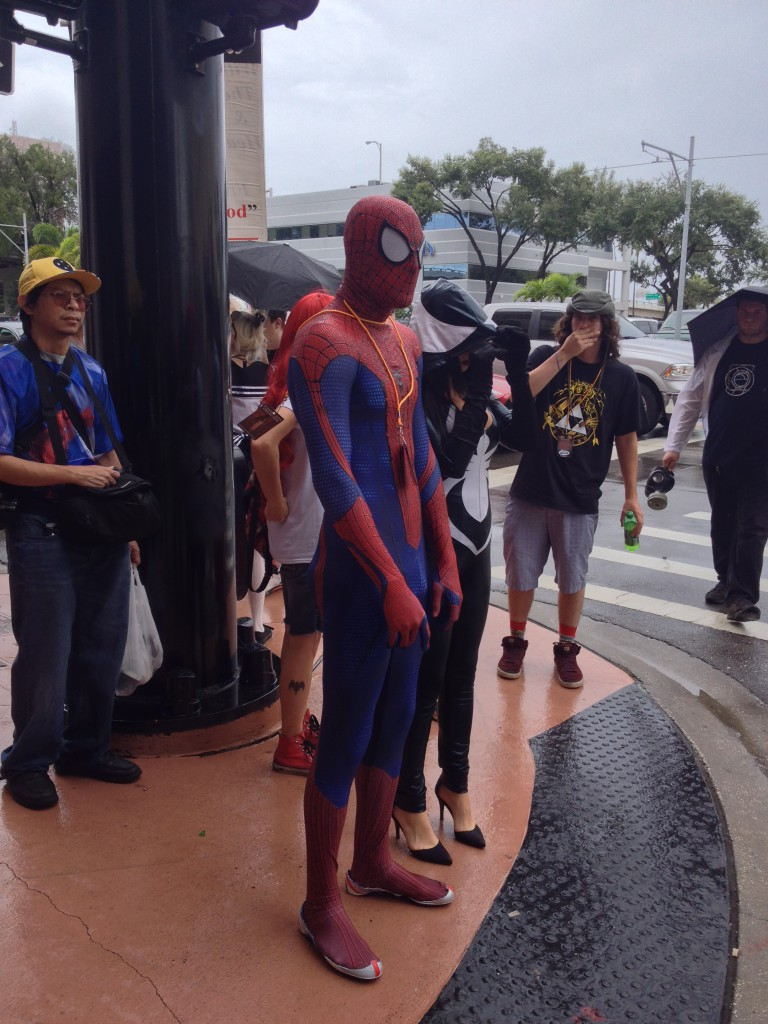2 - Who knew Spiderman obeys traffic signals
