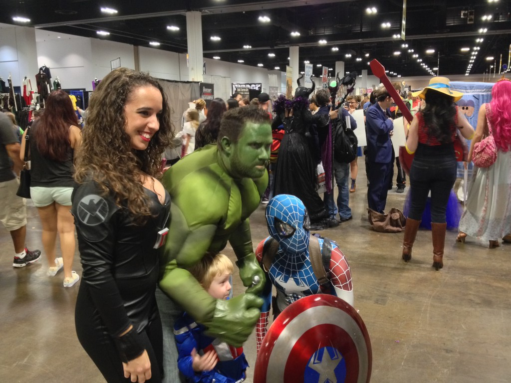 23- Hulk, Captain Spiderman, a baby and some cleavage